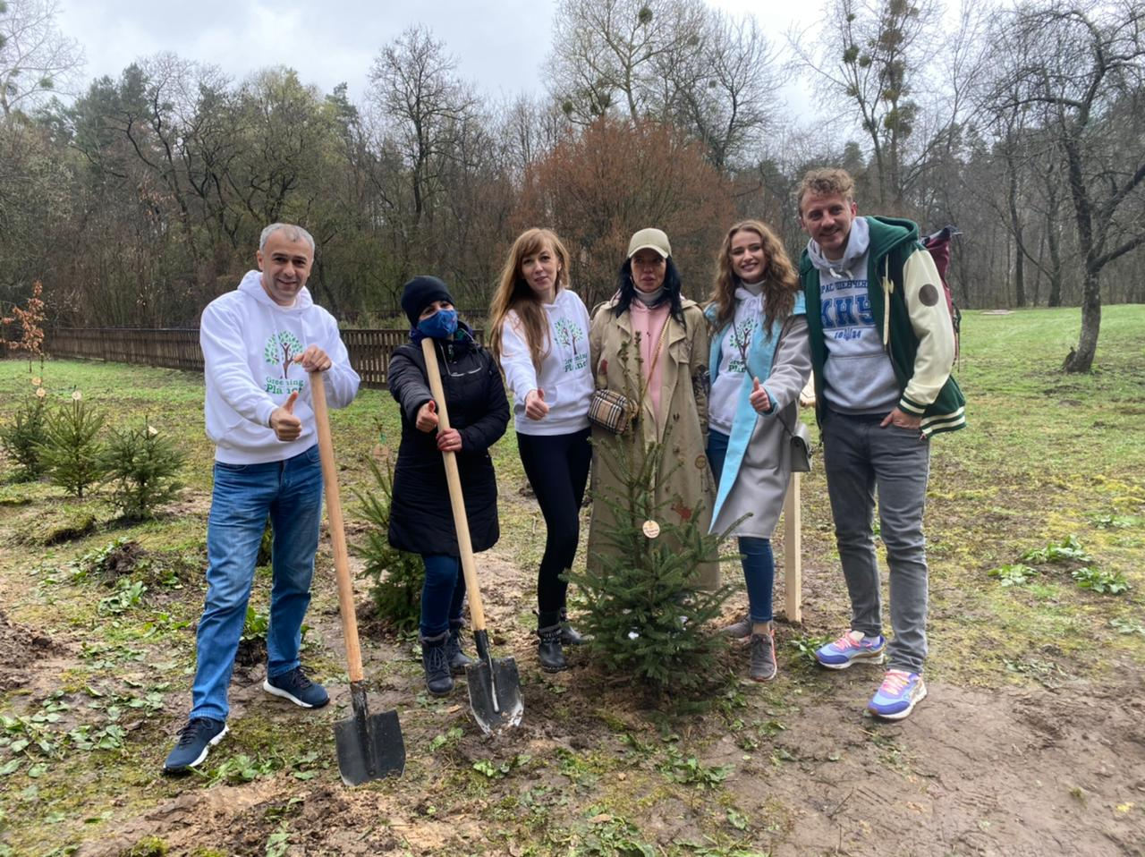 """Ukrainian celebrities have planted the """"Star Forest"""" as part of Greening of the planet project."""
